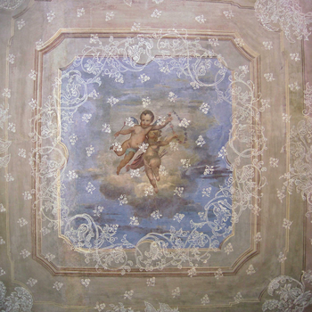 Lace motif and cherubs